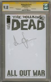 Walking Dead #115 Blank Variant CGC 9.8 Signature Series Signed Andrew Lincoln Image comic book